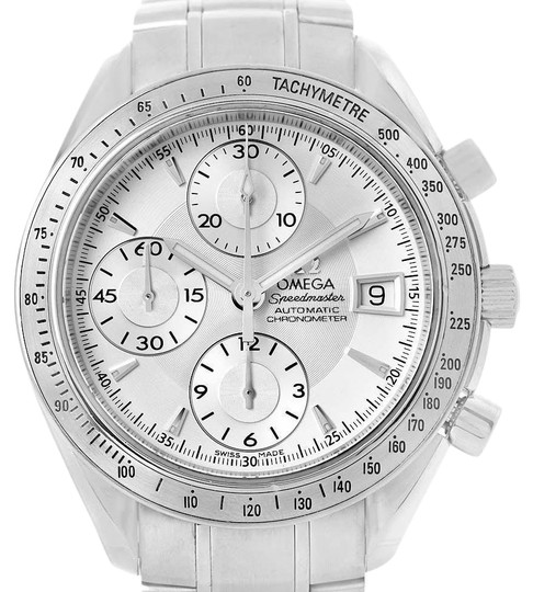 Omega Omega Speedmaster Chronograph Steel Mens Watch 3211.30.00 Box Card Image 0