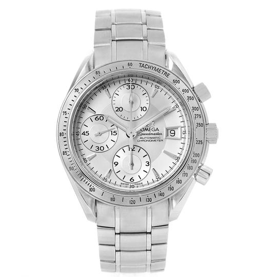 Omega Omega Speedmaster Chronograph Steel Mens Watch 3211.30.00 Box Card Image 1