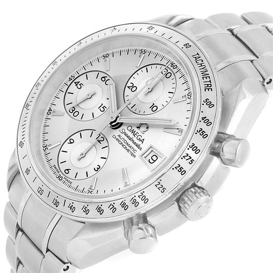 Omega Omega Speedmaster Chronograph Steel Mens Watch 3211.30.00 Box Card Image 4