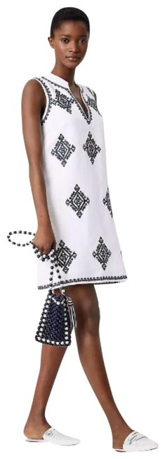 Preload https://img-static.tradesy.com/item/23996985/tory-burch-white-navy-embroidered-celeste-cover-up-short-casual-dress-size-2-xs-0-1-650-650.jpg