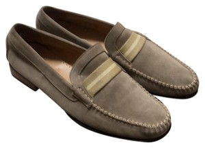 Coach 1941 beige suede with thick yellowish stripes Flats