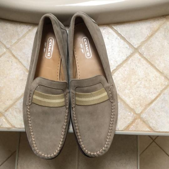 Coach 1941 beige suede with thick yellowish stripes Flats Image 2