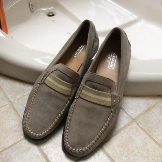 Coach 1941 beige suede with thick yellowish stripes Flats Image 5