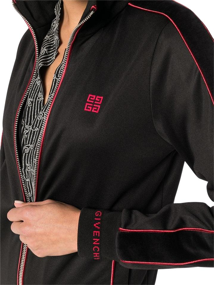 d6a49608c Givenchy Black Red Logo Embroidered Track Jacket Activewear Size 6 ...