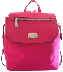 MICHAEL Michael Kors Bedford Drawstring Closure Magnetic Snap Saffiano Leather Durable Nylon Backpack