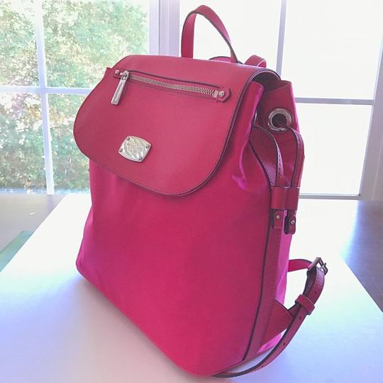 MICHAEL Michael Kors Bedford Drawstring Closure Magnetic Snap Saffiano Leather Durable Nylon Backpack Image 3