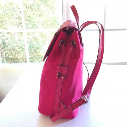 MICHAEL Michael Kors Bedford Drawstring Closure Magnetic Snap Saffiano Leather Durable Nylon Backpack Image 4