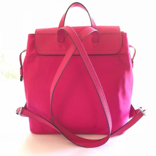 MICHAEL Michael Kors Bedford Drawstring Closure Magnetic Snap Saffiano Leather Durable Nylon Backpack Image 5