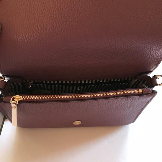 Kate Spade Large Corin Pebbled Leather Gold Tone Hardware Compact Size Adjustable Strap Cross Body Bag
