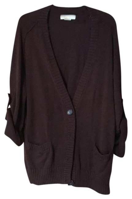 Preload https://item3.tradesy.com/images/michael-kors-brown-cardigan-size-14-l-23997202-0-1.jpg?width=400&height=650