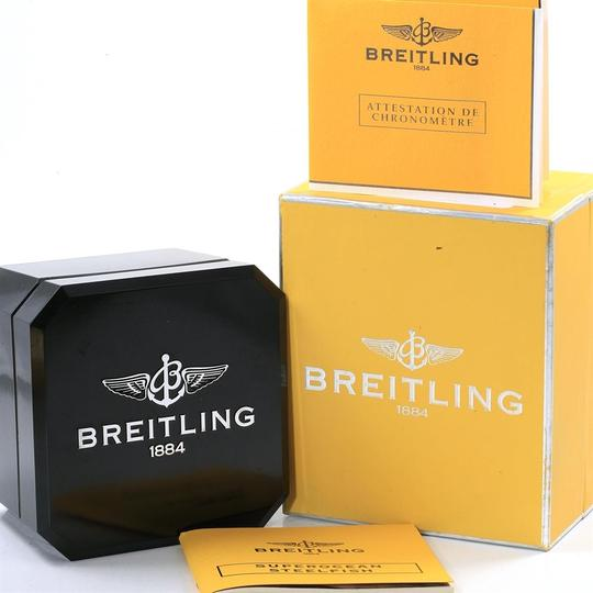 Breitling Breitling Superocean Steelfish Blue Dial Watch A17390 Box Papers
