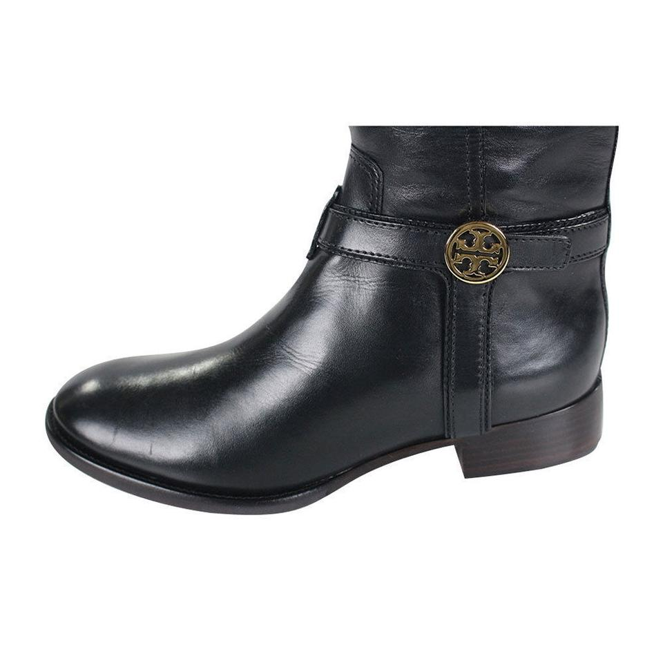 bdf978b4fc6 M 5b48d403de6f629a3e352fca  154349a9cdef1 Tory Burch Black Bristol 30mm  Tall Leather Riding Boots Booties Size .. ...
