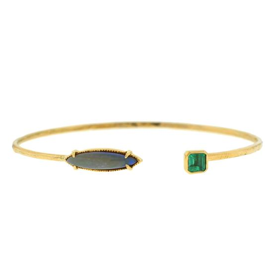Preload https://item1.tradesy.com/images/14k-yellow-gold-opal-and-green-stone-bracelet-23997225-0-0.jpg?width=440&height=440