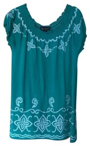 INC International Concepts Top green/white