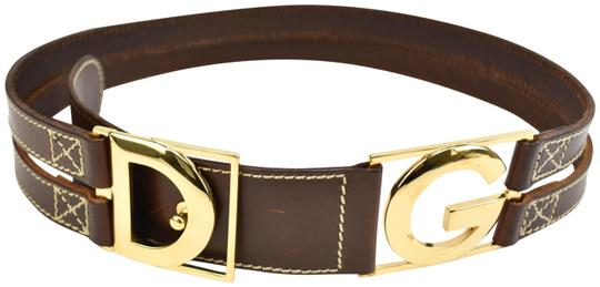 Preload https://item3.tradesy.com/images/dolce-and-gabbana-gold-metal-dg-logo-and-brown-fits-29-to-31-leather-belt-23997237-0-1.jpg?width=440&height=440