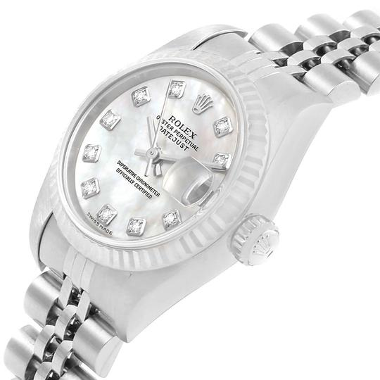 Rolex Rolex Datejust MOP Diamond Steel White Gold Ladies Watch 79174