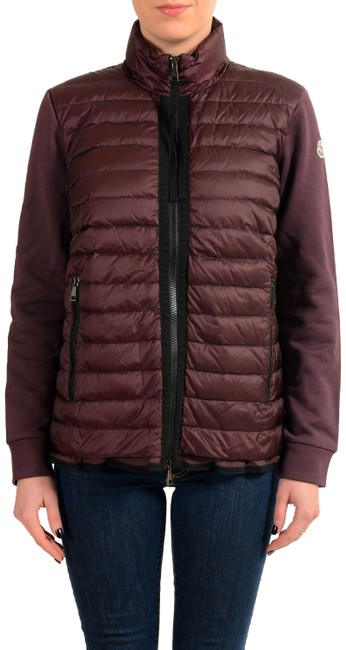 Preload https://item5.tradesy.com/images/moncler-burgundy-women-s-down-insulated-full-zip-sweater-light-jacket-trench-coat-size-12-l-23997244-0-1.jpg?width=400&height=650