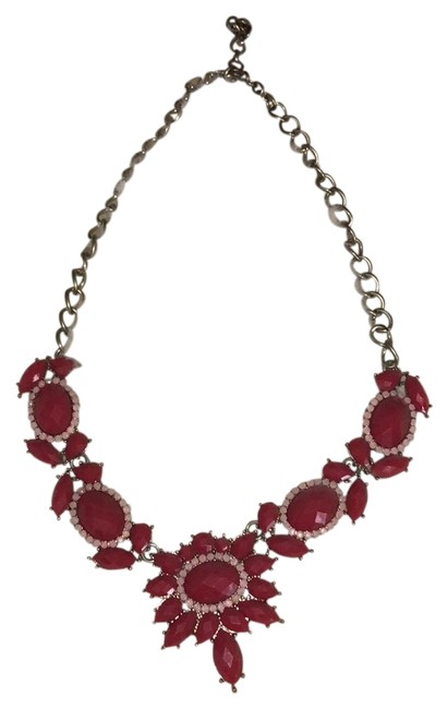 J.Crew Red and Pink Statement Necklace J.Crew Red and Pink Statement Necklace Image 1