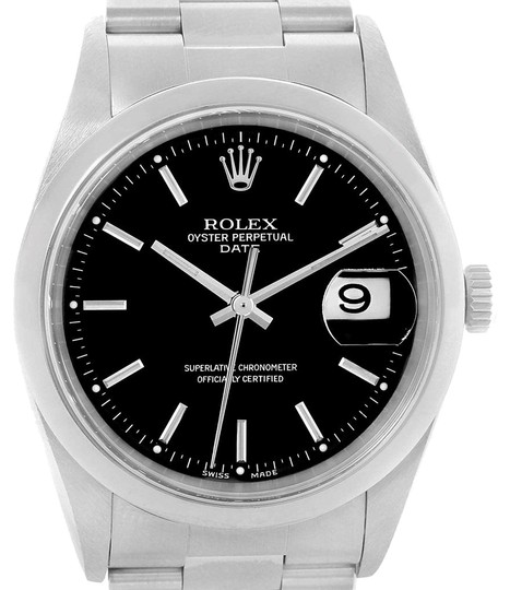Preload https://img-static.tradesy.com/item/23997260/rolex-black-date-dial-oyster-bracelet-mens-15200-box-papers-watch-0-1-540-540.jpg