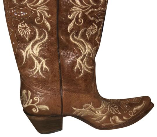 Preload https://item1.tradesy.com/images/corral-boots-tan-and-beige-canton-bootsbooties-size-us-10-regular-m-b-23997270-0-1.jpg?width=440&height=440