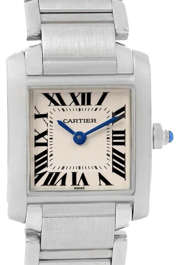 Preload https://img-static.tradesy.com/item/23997277/cartier-silver-tank-francaise-stainless-steel-ladies-w51008q3-box-watch-0-1-540-540.jpg