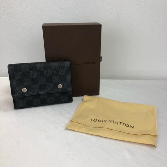 Louis Vuitton LOUIS VUITTON DAMIER Graphite Medium Wallet Card Case With Inserts