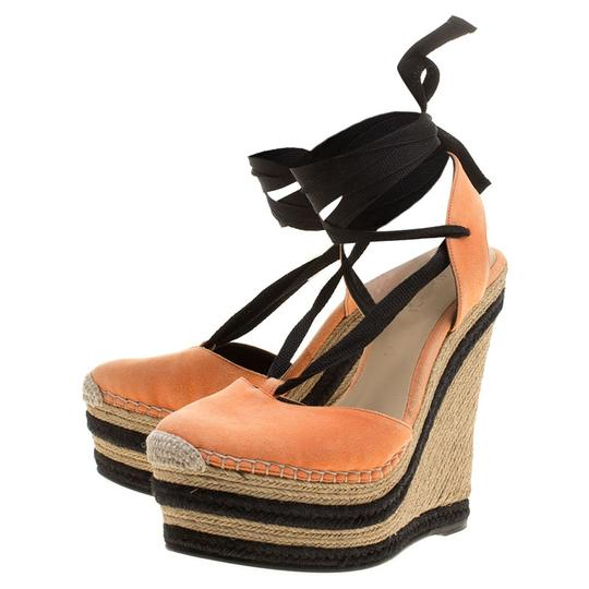 Preload https://item3.tradesy.com/images/gucci-orange-suede-alexis-black-ankle-tie-up-espadrille-wedge-slingback-sand-sandals-size-eu-36-appr-23997317-0-0.jpg?width=440&height=440