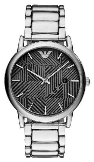 Preload https://item2.tradesy.com/images/emporio-armani-silver-and-black-luigi-luxury-casual-men-s-dress-ar11134-watch-23997321-0-1.jpg?width=440&height=440