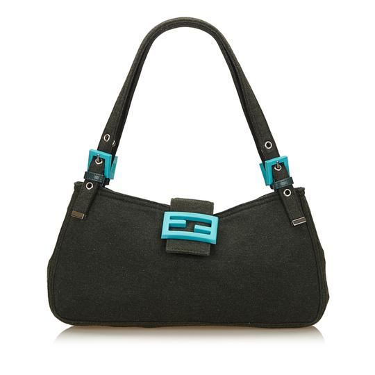Preload https://img-static.tradesy.com/item/23997348/fendi-black-x-blue-fabric-cotton-baguette-0-0-540-540.jpg