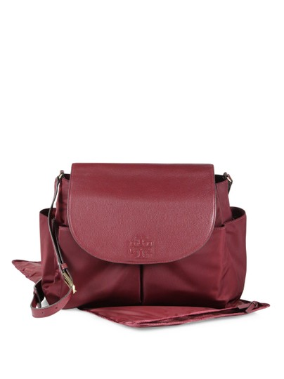 Tory Burch red Diaper Bag