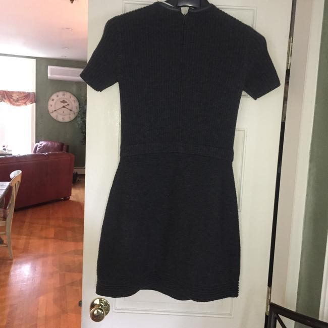 Tory Burch short dress gray black merino wool on Tradesy