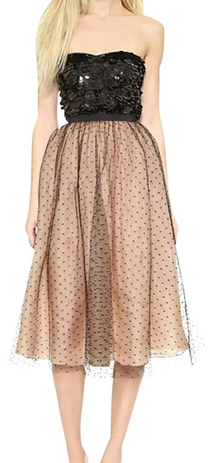 RED Valentino Nude Organza Tulle Mid-length Night Out Dress Size 6 (S) RED Valentino Nude Organza Tulle Mid-length Night Out Dress Size 6 (S) Image 1