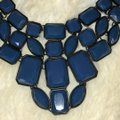 Forever 21 Blue and Black Statement Necklace Forever 21 Blue and Black Statement Necklace Image 2