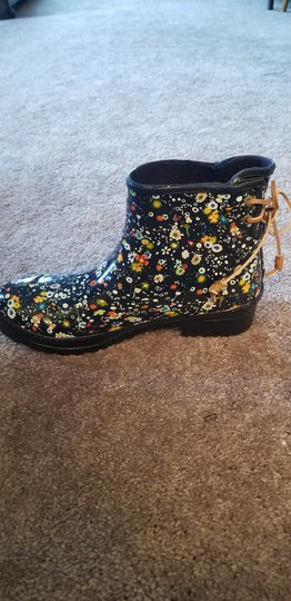 Sperry Navy Floral Boots
