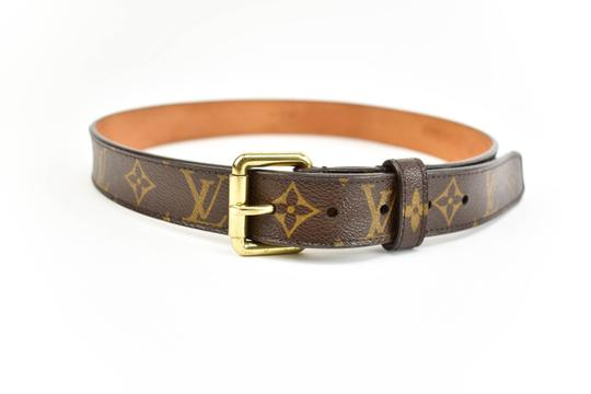 Preload https://item5.tradesy.com/images/louis-vuitton-brown-leather-and-lv-logo-fits-29-32-m-belt-23997374-0-0.jpg?width=440&height=440