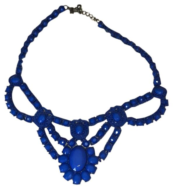 Forever 21 Blue Statement Necklace Forever 21 Blue Statement Necklace Image 1