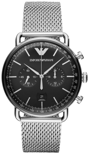 Preload https://item2.tradesy.com/images/emporio-armani-silver-and-black-men-s-quartz-stainless-steel-chronograph-ar11104-watch-23997381-0-1.jpg?width=440&height=440