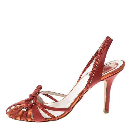 Preload https://img-static.tradesy.com/item/23997394/dior-red-two-tone-leather-and-satin-slingback-sandals-size-eu-375-approx-us-75-narrow-aa-n-0-0-540-540.jpg