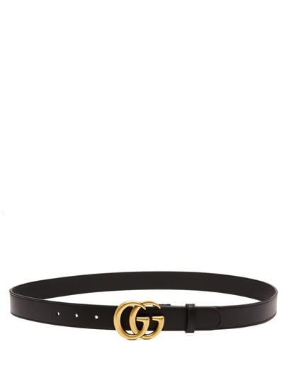 Gucci GUCCI GG leather belt 3cm wide size 95
