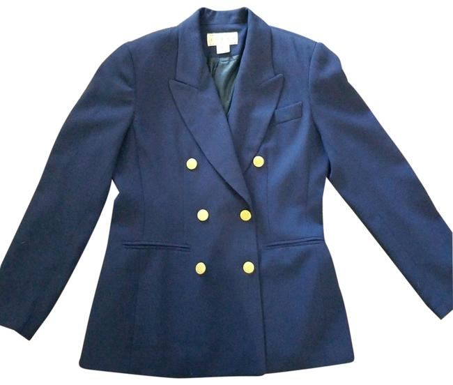 Preload https://item5.tradesy.com/images/saks-fifth-avenue-navy-blue-folio-collection-blazer-size-4-s-23997399-0-1.jpg?width=400&height=650