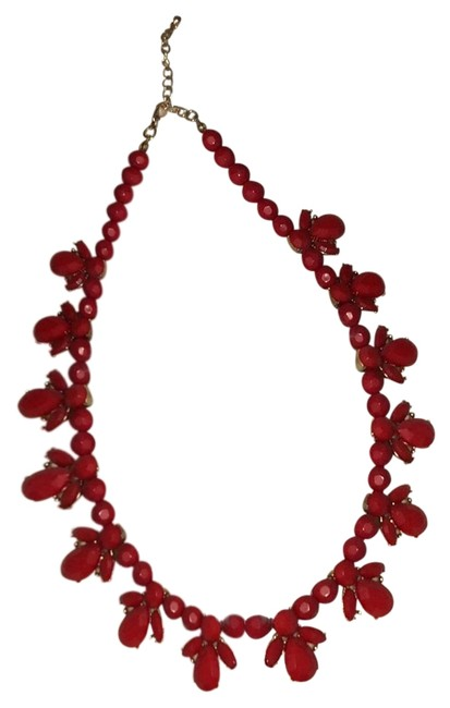 Forever 21 Red Statement Necklace Forever 21 Red Statement Necklace Image 1