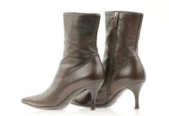 Gucci Leather Heels Brown Boots