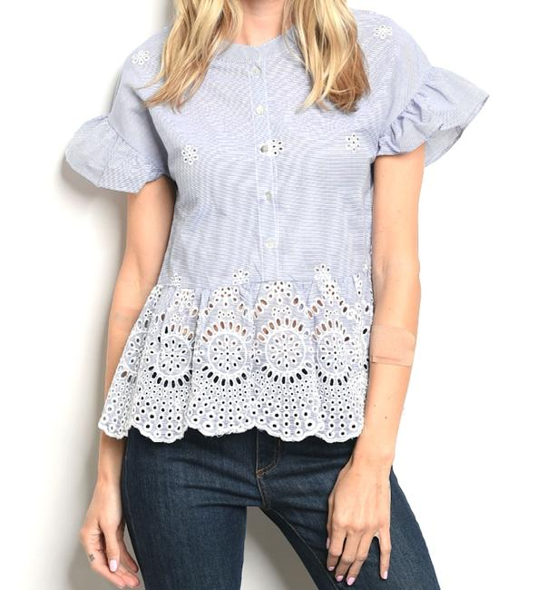 Star-Studded Inc Top blue/white