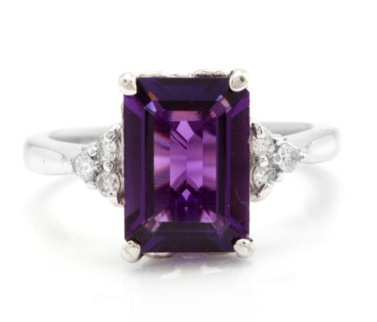 Preload https://img-static.tradesy.com/item/23997434/white-gold-415-carats-natural-amethyst-and-diamond-14k-solid-ring-0-0-540-540.jpg