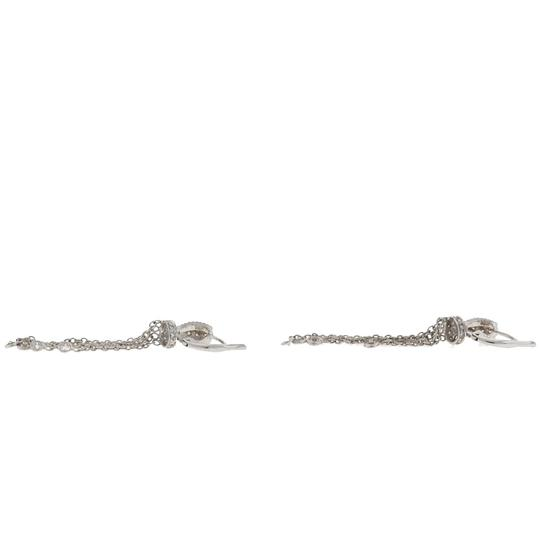 Other 18k White Gold Huggie Diamonds By The Yard Drop Earrings Image 4