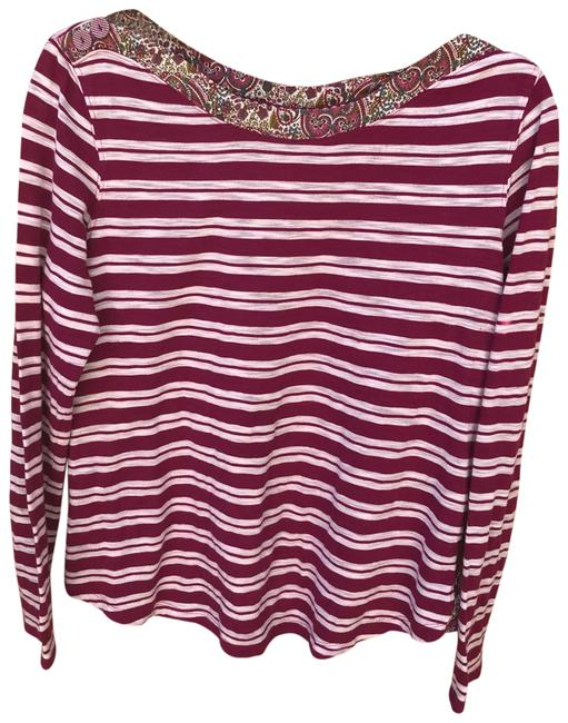 Preload https://img-static.tradesy.com/item/23997446/anthropologie-purple-striped-laurelwood-blouse-size-8-m-0-1-650-650.jpg