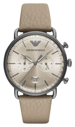 Preload https://item3.tradesy.com/images/emporio-armani-taupe-men-s-leather-chronograph-dial-ar11107-watch-23997457-0-1.jpg?width=440&height=440