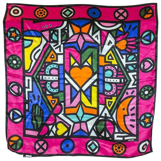 Preload https://img-static.tradesy.com/item/23997464/moschino-pink-multi-color-geometric-shapes-print-scarfwrap-0-1-540-540.jpg