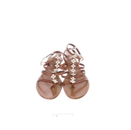 Preload https://item3.tradesy.com/images/louis-vuitton-brown-fleurus-gladiator-strappy-vintage-flowers-sandals-size-eu-35-approx-us-5-regular-23997467-0-1.jpg?width=440&height=440