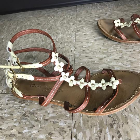 Louis Vuitton Luxury Vintage Rare Fleurus Brown Sandals